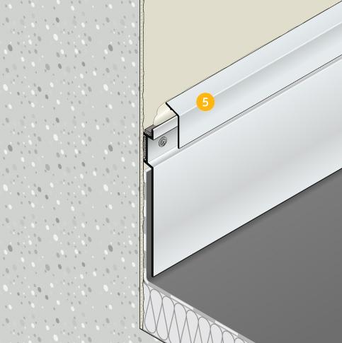 Wandanschlussprofil Solinet - Vorstellung des Systems: Deckprofil