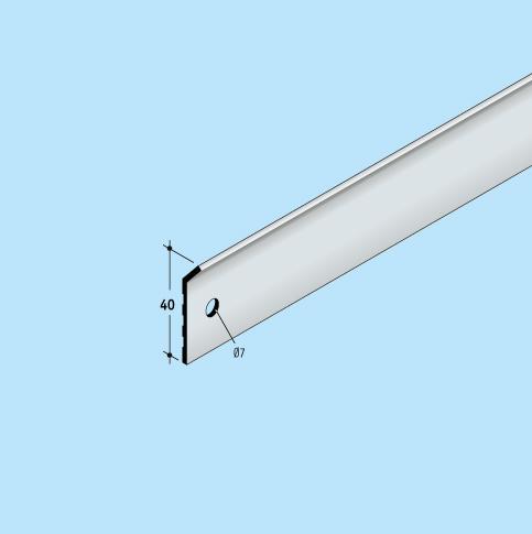 Wandanschlusssystem Anpressschienen Solinet Fixnet 40