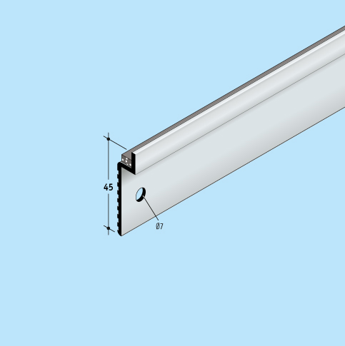 Wandanschlusssystem Anpressschienen Solinet Fixnet 5