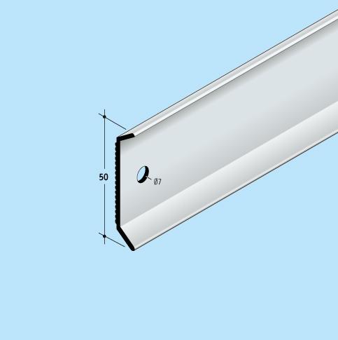 Wandanschlusssystem Anpressschienen Solinet Fixnet 50