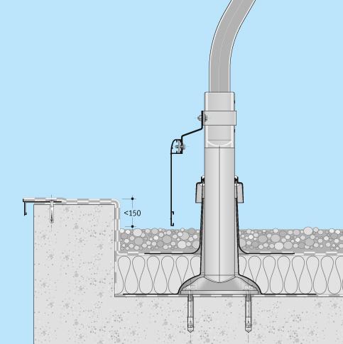 Absturzsicherung Flachdach Barrial fix Dachfläche Einbaubeispiel