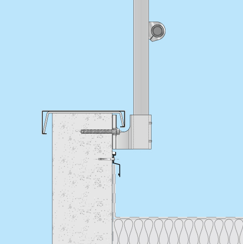 Absturzsicherung Flachdach Barrial fix Innenseite Einbaubeispiel