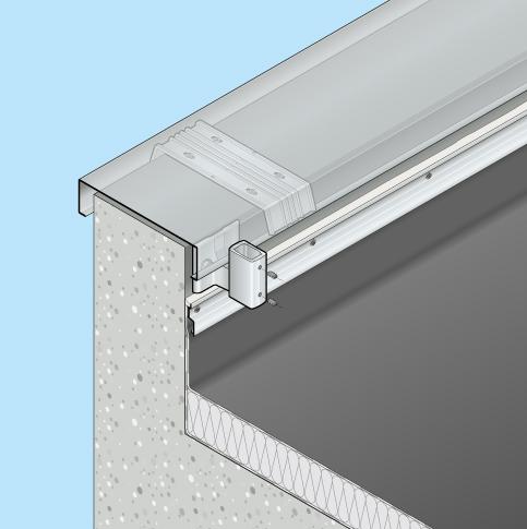 Absturzsicherung Flachdach Barrial fix Innenseite Fuss Ae