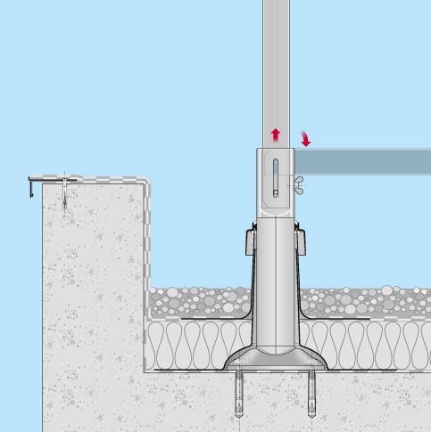Absturzsicherung Flachdach Barrial klappbar Dachfläche Einbaubeispiel