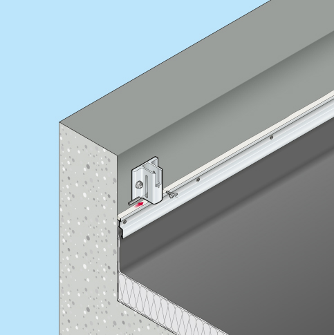 Absturzsicherung Flachdach Barrial klappbar Innenseite Fuss A5r