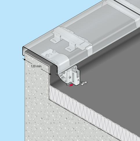 Absturzsicherung Flachdach Barrial klappbar Oberseite Fuss Zr