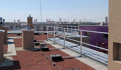 Barrial Sicherheitsgeländer aus Aluminium für Flachdächer